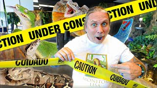 THE REPTILE ZOO IS UNDER CONSTRUCTION!! | BRIAN BARCZYK