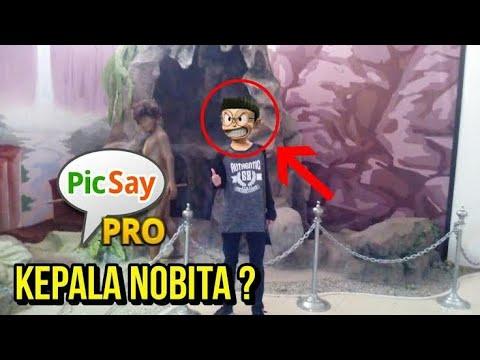 Cara Edit Foto Ganti Kepala Nobita 3d Di Picsay Pro