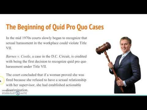 Quiplash quid pro quo sexual harassment