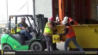 Installing A 25 Ton Capacity, Double Girder, Overhead Bridge Crane