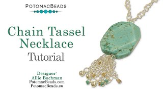 Chain Tassel Necklace- DIY Jewelry Making Tutorial By PotomacBeads