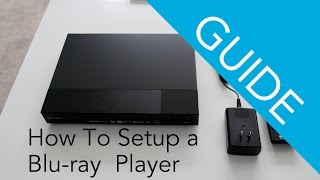 How To Set Up a Sony Blu-ray Disc / DVD player