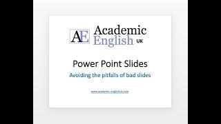Academic Presentation Slides - improve your PPT slides.