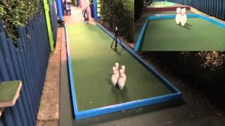 Mini Golf - The Ten Pin / Four Pin Bowling Video