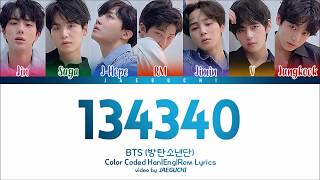 BTS (방탄소년단)   134340 (PLUTO) (Color Coded Lyrics EngRomHan)
