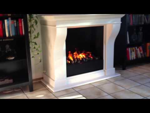 Elektrischer Kamin Carrara mit 3D-Feuer - Wasserdampfkamin OptiMyst
