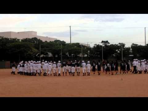 東風平中学校野球部 2015年6月4日 最後の円陣