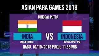 Live Streaming Perempat Final Badminton Tunggal Putra, Indonesia Vs India di Asian Para Games 2018