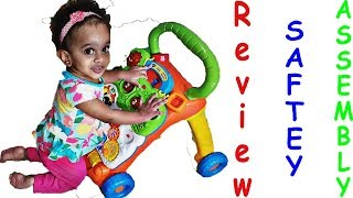 Vtech Sit To Stand Learning Activity Walker Review | Assembly | Safety