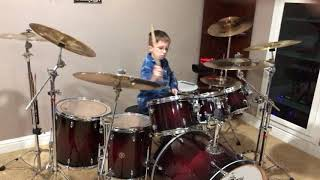 """The Surfaris """"Wipeout"""" Drum Cover By 9 Year Old Gavin Martin"""