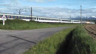 preview picture of video 'Train de pèlerinage à Ossun tracté par la BB 7260'