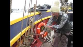 How to Belay and Coil a Sailing Ship's Rigging Line