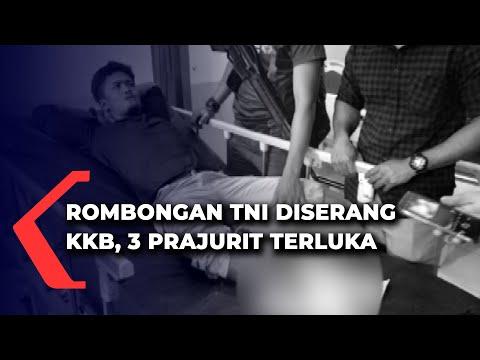 rombongan tni diserang kkb personel tni terluka