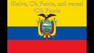 National Anthems - Ecuador - Lyrics + Translation in Subtitles