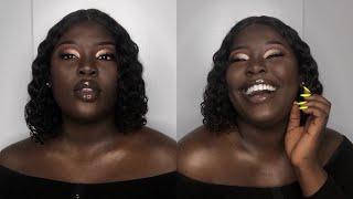Full Glam Makeup Tutorial  For Dark Skin| Black Women