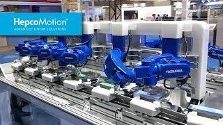 HepcoMotion-DTS와 Yaskawa 로봇의 합작 시스템