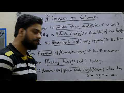 Idioms & phrases on colours | Advanced English lesson