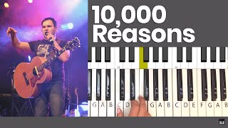 10,000 Reasons - Bless the Lord, Oh My Soul - Matt Redman Piano Tutorial and Chords