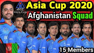 Asia Cup 2020 - Afghanistan Team 15 Members Probable Squad | Afg Squad Asia Cup 2020