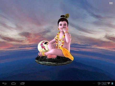 3D Krishna Laddu Gopal Live Wallpaper