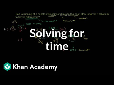 Solving for time (video) | Khan Academy