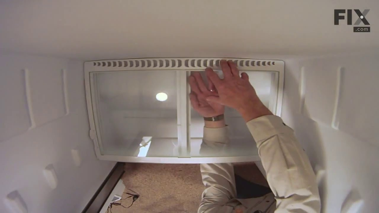 Replacing your Frigidaire Refrigerator Crisper Glass Shelf Insert