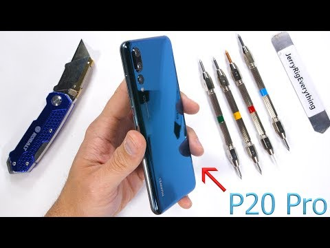 Huawei P20 Pro finisce nelle grinfie di JerryRigEverything, è finita per il dispositivo?