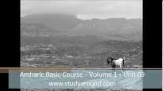 Amharic Basic Course - Volume 1 - Unit 09