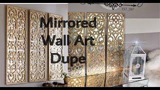 DIY HOME DECOR - HOW TO MAKE A 3 PANEL FAUX MIRROR WALL ART USING A DOORMAT 😱!! | Kholo.pk