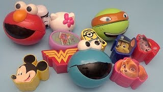 Surprise Egg Opening Memory Game for Kids!  Paw Patrol Sesame Street Hello Kitty Disney!