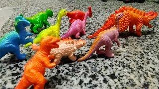 BÉ HỌC CON VẬT (Con khủng long) cùng bộ đồ chơi khu rừng khủng long
