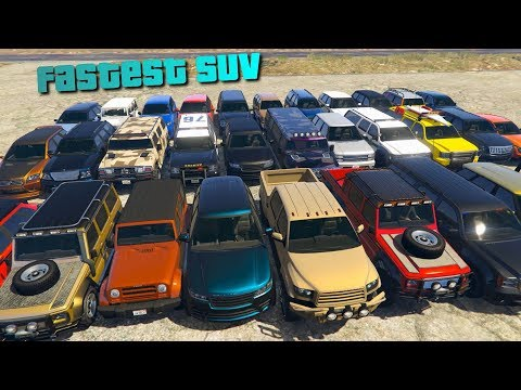 GTA V Online Which SUV Is Fastest | Top Speed