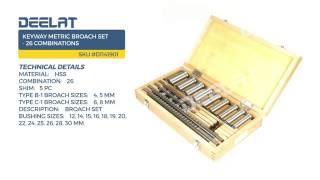 Keyway Metric Broach Set - 26 Combinations