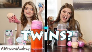 Twin Telepathy Bath Bombs Challenge / AllAroundAudrey