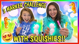 3 MARKER SQUISHY CHALLENGE | We Are The Davises
