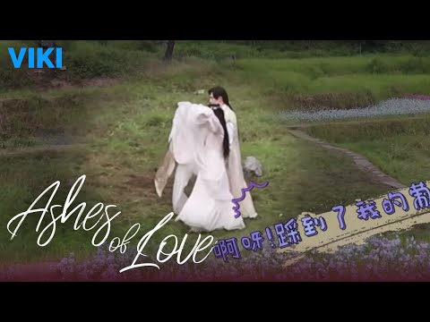 Ashes of Love: Behind the Scenes | Blushing [Eng Sub]