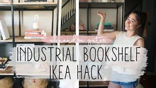 DIY Industrial Bookshelf Ikea Hack  | Easy Ikea Hack