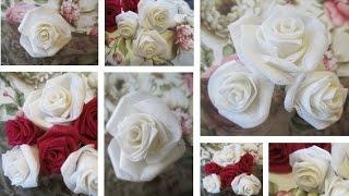 DIY Gorgeous Fabric Roses- Super Easy | Preeti Petals