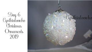 Crystal Bead Christmas Ornament 6/2019