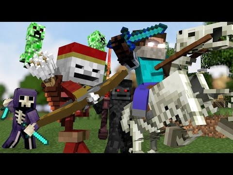"♫ ""MONSTER CREW"" - MINECRAFT PARODY ""SHAPE OF YOU"" ♫ - ANIMATED MINECRAFT MUSIC VIDEO (2017) ♫"