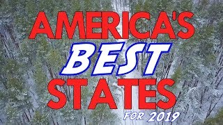 The 10 BEST STATES in AMERICA for 2019 Video