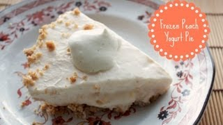 Frozen Peach Yogurt Pie (No-bake Pie) | Tasty Memories