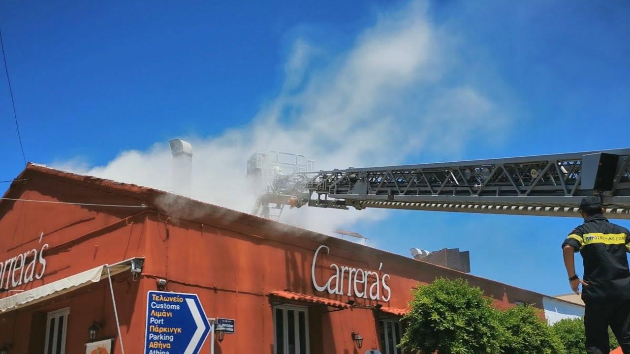 Ναύπλιο: Φωτιά εκδηλώθηκε σε κατάστημα εστίασης