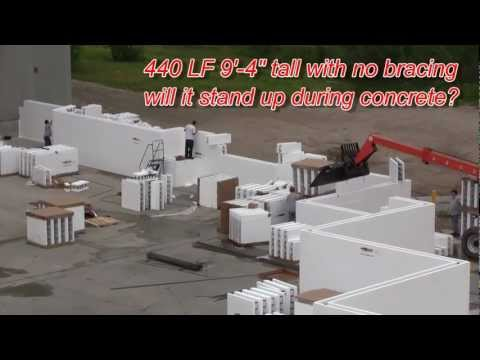 How strong is the Fox Blocks corner 1 of 3 insulated concrete forms.wmv