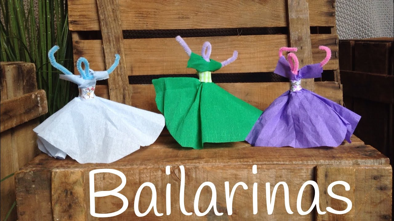 Bailarinas con limpiapipas | Manualidades con LIMPIAPIPAS para niños