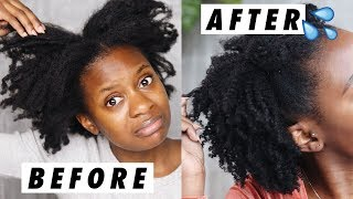 How To Moisturize DRY 4C Natural Hair & Retain Moisture For Days