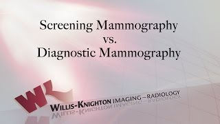 3D Mammography: Screening Mammography vs. Diagnostic Mammography