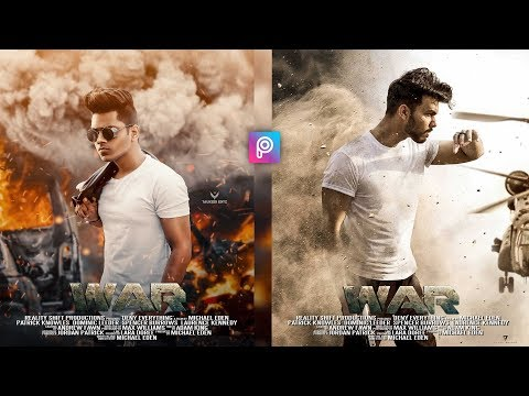 PicsArt War Movie Poster Photo Editing Tutorial in Picsart Step by Step in Hindi