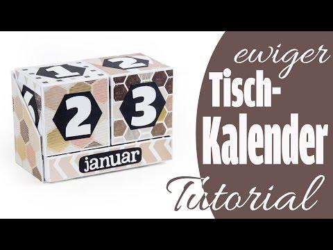 [Tutorial] Ewiger Tischkalender | Perpetual Calendar aus Papier | DEUTSCH