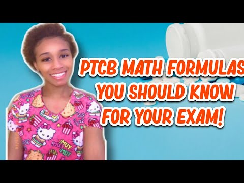 PTCB MATH STUDY GUIDE 2021| Itsdricaaa - YouTube